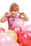 Little girl with balloons Royalty Free Stock Photography