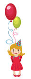 Little girl with balloons Stock Photography