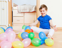 Little girl   with balloons . Stock Photography