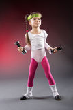 Little Fitness Girl Stock Images