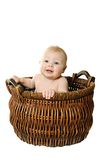 Little girl in the basket Royalty Free Stock Photography