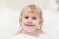Little girl in bath Royalty Free Stock Photography