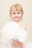 Little girl in bath Royalty Free Stock Image