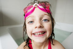 Little girl in bath Stock Image