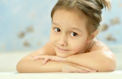 Little girl in bath Royalty Free Stock Photo