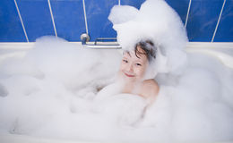 Little girl in bath Royalty Free Stock Images