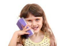 Little Girl with Bath Sponge Royalty Free Stock Photo