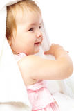 Little girl in bath towel Stock Photos