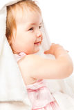 Little girl in bath towel Stock Images