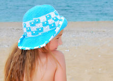 The little girl on the beach Royalty Free Stock Photo