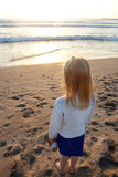Little Girl at the Beach Stock Image