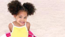 Little girl on beach royalty free stock photo