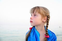 Little girl on the beach Royalty Free Stock Photo