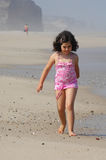 Little girl on the beach Royalty Free Stock Photos