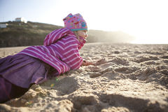 Little girl on the beach Stock Photo