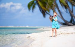 Little girl on a beach Stock Photography
