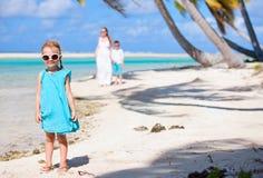 Little girl on a beach Stock Photo