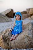 Little girl at beach Royalty Free Stock Image
