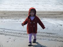 Little Girl on Beach Royalty Free Stock Photo