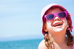 Little girl on beach Royalty Free Stock Photography