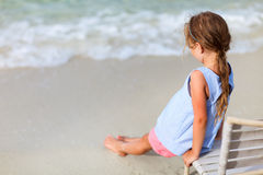 Little girl at beach Royalty Free Stock Photography