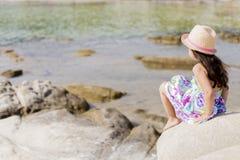 Little girl on the beach Stock Photography