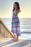 Little girl in beach dress Royalty Free Stock Image