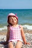 Little girl on beach Royalty Free Stock Image