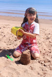 Little girl at the beach in P.E.I Stock Image