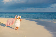 Little girl on the beach Royalty Free Stock Photography