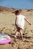 Little girl on beach Stock Photo