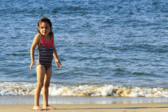 Little Girl at the Beach Stock Photos