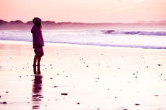 Little girl in the beach Royalty Free Stock Images