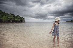 A little girl at the beach Royalty Free Stock Photography