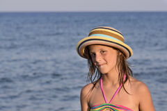 Little girl on the beach Royalty Free Stock Image