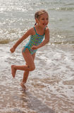 Little girl at beach Stock Photography