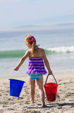 Little Girl on a beach Vacation Stock Images