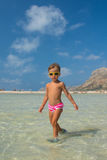 Little girl at the beach Royalty Free Stock Photography