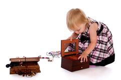 Little girl with a beads Stock Image