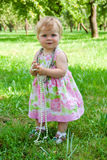 Little girl with beads Stock Images