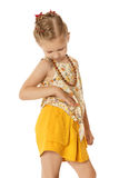 Little girl in beads Royalty Free Stock Photos