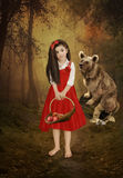 Little girl and bear Stock Photo