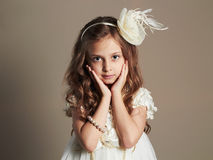 Little girl.beautiful child Royalty Free Stock Image