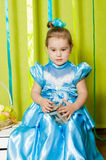 Little girl in a beautiful dress Stock Photography