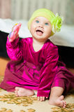 Little girl in a beautiful dress Royalty Free Stock Photos