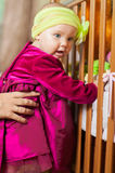 Little girl in a beautiful dress Royalty Free Stock Image