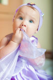Little girl in a beautiful dress Royalty Free Stock Images