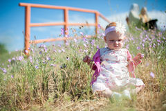 Little girl in a beautiful dress Stock Image
