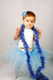 A little girl in a beautiful dress Stock Image
