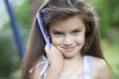 Little girl with beautiful hair Royalty Free Stock Photo